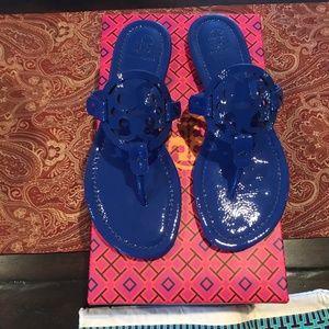 Tory Burch Nautical Blue Miller Sandals, size 7,